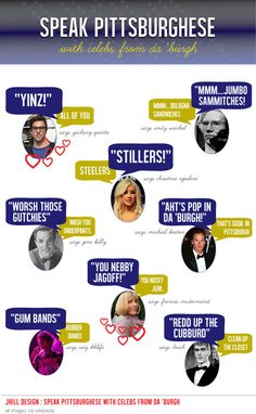 Learn to speak Pittsburghese with some of our favorite Pittsburgh celebs.