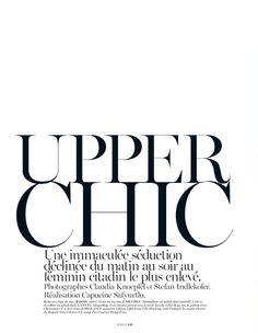 Upper Chic editorial, Vogue Paris February 2013 _
