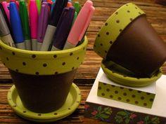 Hand Painted Flower Pot - Teacher Gift