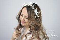 Perlas de cristal de pelo pedazo de boda, boda vid perlas pelo de cristal, perla cristal cabello vid, pedazo del pelo de cristal nupcial, corona de cristal