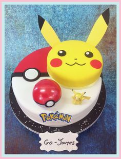 Pokemon Go Cake with free UK delivery. #pokemongo #pikachu #pokemoncake…
