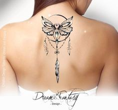 Design Tattoo - Papillon - cancer - Dreamcatcher - Attrape rêve