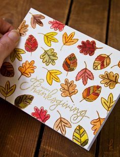 Pretty Pink Posh Giving Thanks Distress Ink Watercolor Card