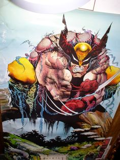 Sam Keith calls this Crap. I call it bloody fucking awesome bub~ Wolverine Poster, Wolverine Art, Comic Book Artists, Comic Books Art, Comic Art, The Maxx, Iphone 5s Wallpaper, Disney Marvel, Marvel Art