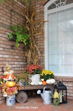 Front Porch Dressed for Fall