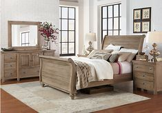 Summer Grove Gray 5 Pc Queen Bedroom at Rooms To Go. Find Queen Bedroom Sets that will look great in your home and complement the rest of your furniture. #roomstogo