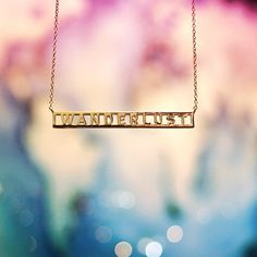 Gold Wanderlust necklace from Jet Set Candy