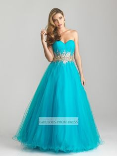 2013 Style Ball Gown Sweetheart Beading Sleeveless Floor-length Tulle Prom Dresses / Evening Dresses (SZ0300428) - FabulousPromDress.com