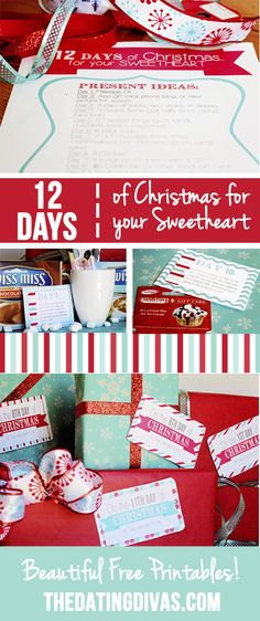 Twelve days of christmas gift ideas romantic evening