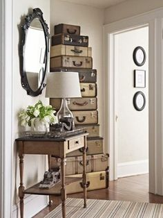 tower of suitcases