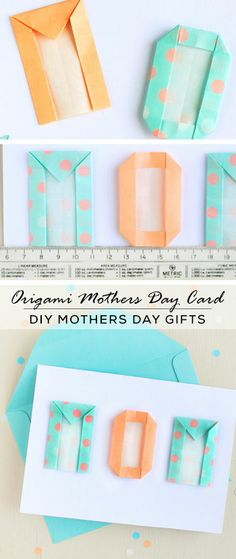 Mother's Day Card with Origami Letters - Mothers Day Crafts for Kids - Click for Tutorial