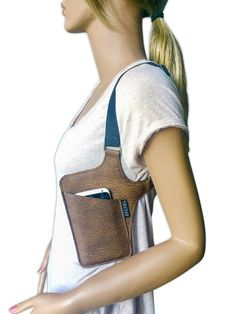 "iPhone holster bag ""TINY"" shoulder holster bag for iPhone holster bag women handbag vacation bag festival bag Iphone Holster, Leather Halter, Bag Women, Leather Workshop, Leather Phone Case, Leather Art, Leather Projects, Leather Accessories, Phone Accessories"
