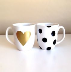 Hand painted Metallic Gold Heart & Black by TheRoyalBowtiqueShop, $18.00