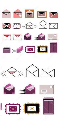 Illustration about Set of mail/envelope/letter icons. Illustration of collection, front, address - 68753166 Email Icon, Letter Icon, Envelope Lettering, Graphic Design Illustration, Icon Set, Geometry, Symbols, Set Design, Oc