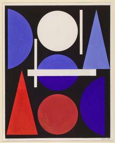 forma es vacío, vacío es forma: Auguste Herbin - pintura