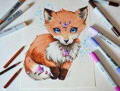 """Diandra the fox cub""  By: lighane.deviantart"