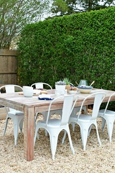 Backyard Patio Challenge Outdoor Farmhouse Tablerustic