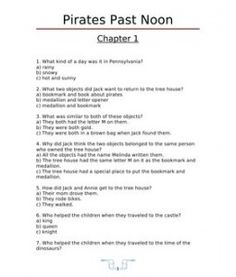 pirates past noon more reading ancillary ancillary projects worksheets ...