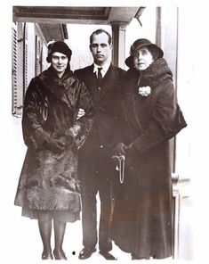 Princess Ileana, Archduke Anton of Austria and Queen Marie of Romania