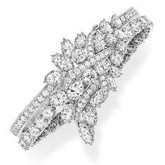Harry Winston Diamond Secret Cluster Bracelet.
