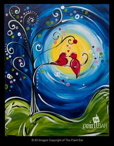 Lovey Dovey Birds Painting - Jackie Schon, The Paint Bar
