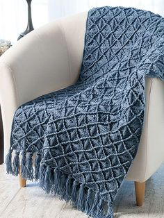Lattice Afghan Crochet Pattern download from Annie's Craft Store. Order here: https://www.anniescatalog.com/detail.html?prod_id=139906&cat_id=468