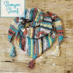 Painted Canyon Sawyer Scarf ~ Sew Crafty Crochet