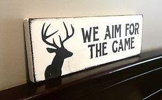Deer Hunting Sign Wooden Rustic Camp Decor Guns