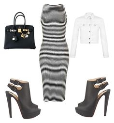 Walk in the city by beautie-swagg on Polyvore featuring polyvore fashion style Topshop Miss Selfridge Hermès Christian Louboutin clothing
