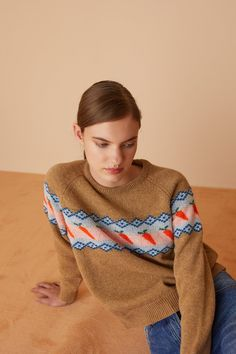 Baby carrots Shetland jumper - Women's Clothing Online Made in Italy