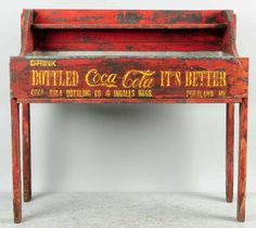 Early & Primitive Coca-Cola Wooden Ice Cooler. : Lot 985