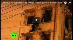 #HeyUnik  Polisi Ini Beraksi Bak Ninja Untuk Selamatkan Pemuda Yang Niat Bunuh Diri #Video #YangUnikEmangAsyik