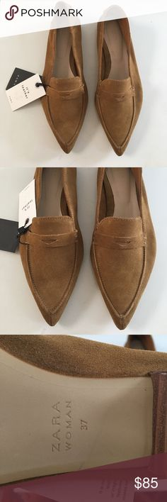 Zara brown flats Brand new with tags Zara Shoes Flats & Loafers