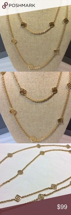 Kendra Scott  Gold Devalyn Long Necklace Comes in dust bag Kendra Scott Jewelry Necklaces