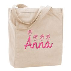 Personalized American Sign Language Tote