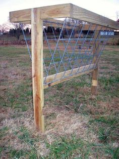 How to build a hay feeder in 17 simple steps, and for under $100!