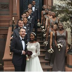 Beautiful interracial couple surrounded by their wedding party💕 💍 Are you single and looking for interracial love? feel free Click the bio link to meet verified singles . Interracial Marriage, Interracial Wedding, Interracial Love, Black And White Dating, Dating Black Women, Funny Wedding Photos, Vintage Wedding Photos, Vintage Weddings, Black Woman White Man