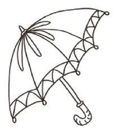Umbrella Coloring Pages For Kids Printable Drawing Syksy