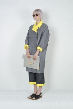 YUN YU. SS 2015. BA Graduation Collection. Grey & Yellow Palette.