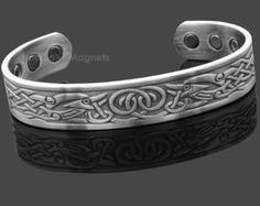 Mens Copper Magnetic Bracelet|Viking Mens Jewelry|Viking Bracelet|Golf Gifts For Men|Healing Magnetic Bracelet|Viking Norse Bracelet - VGP