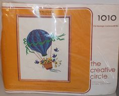 Vintage Creative Circle Crewel Embroidery Kit by RomanceWriter