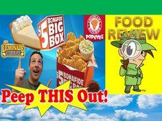 Popeyes® $5 Bonafide® Big Box & Lemonade Icebox Pie Review! Peep THIS Out!