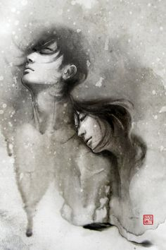 Passion Packed Chinese Ink Drawings by Rola Chang