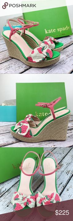 4f255c46b18e Kate Spade Strawberry Print Janae Wedge Sandal Adorable Kate Spade Janae  Wedge Sandal in strawberry print