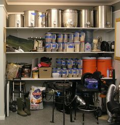 Ideas to organize home-brew equipment