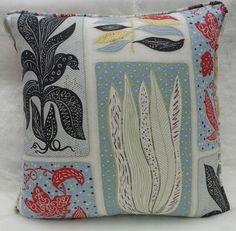 Sanderson Fabric ~ 'Seaweed' Blue/Yellow Col Cushion