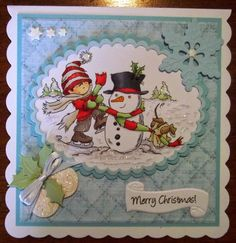 ink'n'rubba for CCT. LOTV stamp coloured with copics, die cuts by Marianne Design Christmas 2014, Christmas Cards, Merry Christmas, Marianne Design, Lily Of The Valley, Copics, Paper Crafts, Claire, Projects