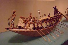 Boat. Dynasty 12, early reign of Amenemhat I from tomb of Meketre. Thebes 1981-1975 BCE