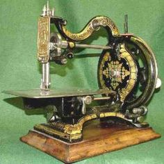 Beautiful antique sewing machine.