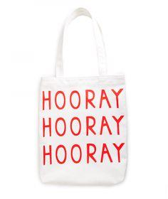 Ban.do Canvas Tote Bag - Hooray
